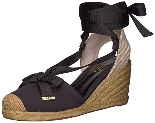 ad5733b47 Lauren by Ralph Lauren Womens Hollie Espadrille Wedge Sandal: Amazon ...