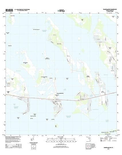 Amazon Com Topographic Map Poster Summerland Key Fl Tnm Geopdf