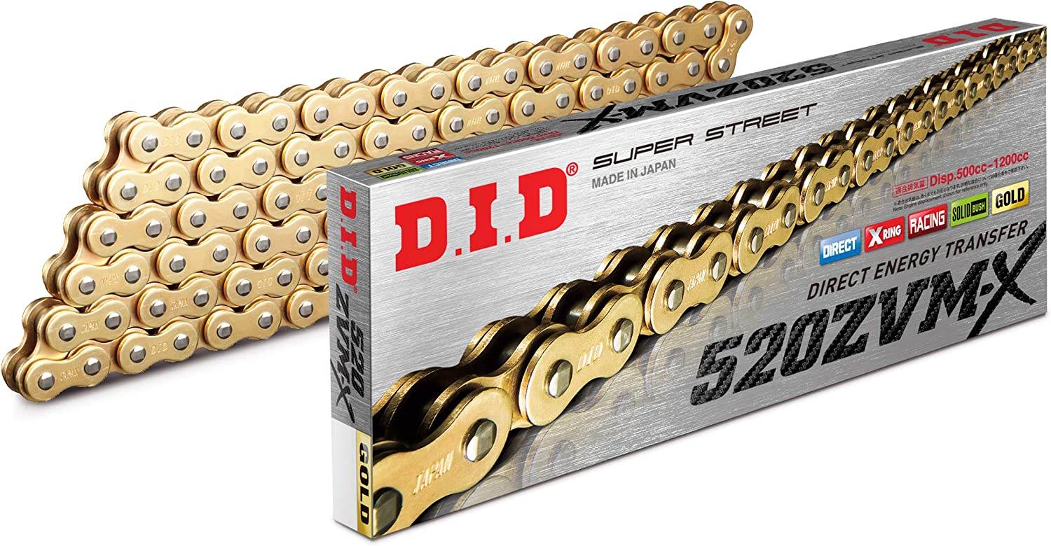 offen with Rivet Link DID X-ring Gold Chain 520/ ZVMX 114/ Glieder