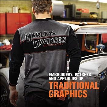 Harley-Davidson Official Mens Iron Block Henley Grey