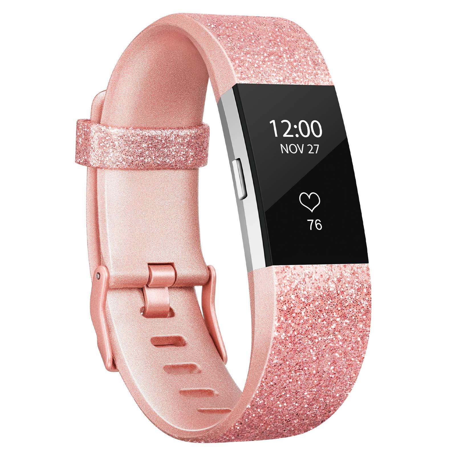 Malla Small para Fitbit Charge 2 Oro rosa brillante -8JGYDGV