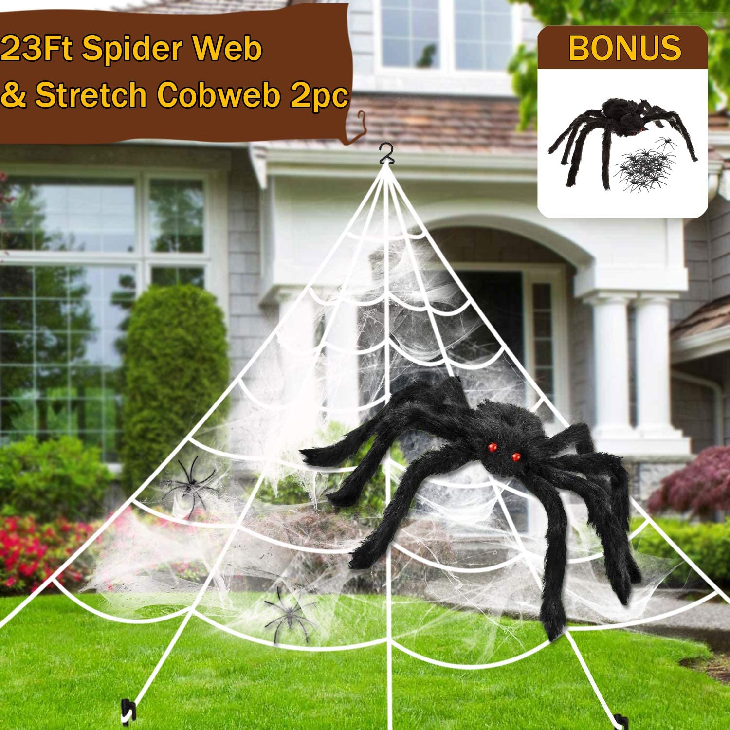 1000 sqft Spider Webs Halloween Decorations 200g//7.05 oz Super Stretch Spider Web Cobwebs Haunted House Yard Creepy Scene Props Indoor Outdoor Decor and Halloween Party Supplies