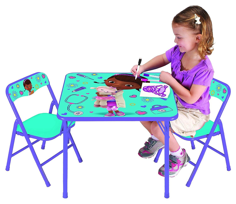 Awesome Doc Mcstuffins Table And Chair Set Part - 2: Amazon.com: Disney Doc McStuffins On The Go Activity Table Set: Toys U0026 Games