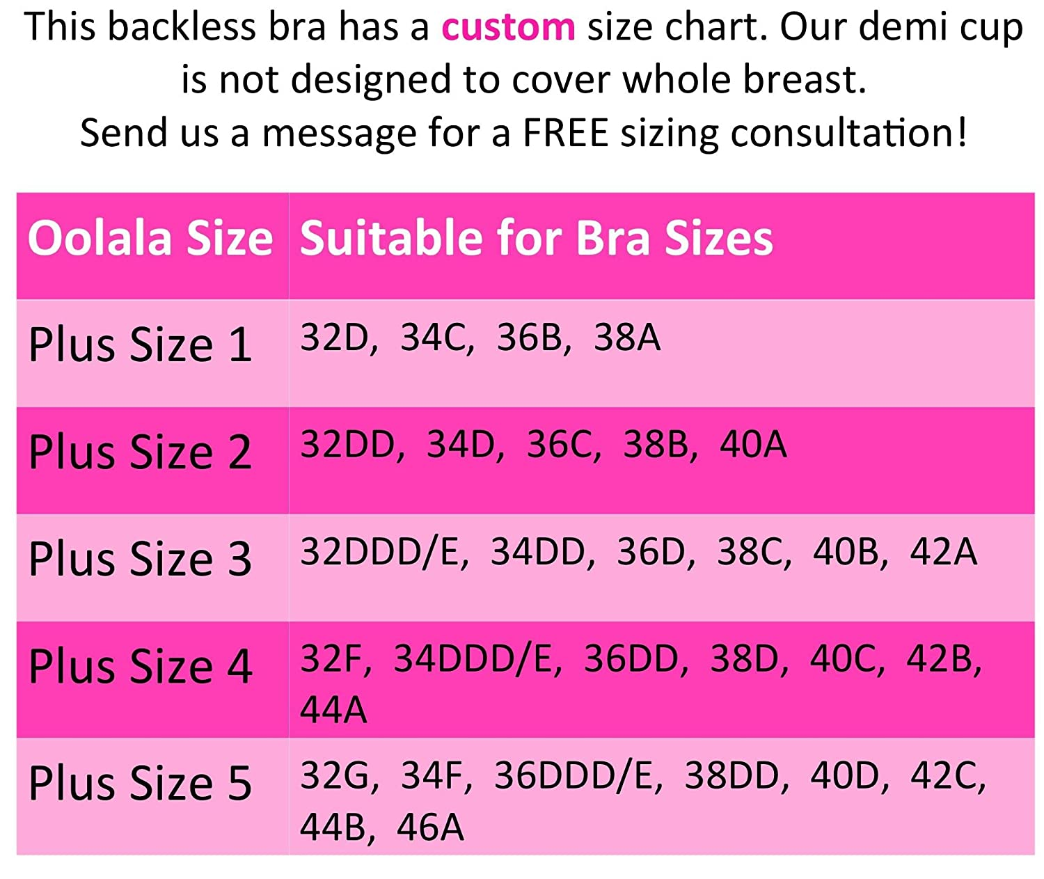 Oolala Plus Size Backless Pushup Bra With Maximum Comfort For DD ...