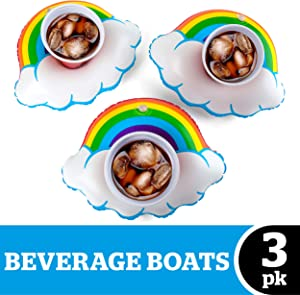 BigMouth Inc Happy Rainbow Beverage Boats (3-Pack)
