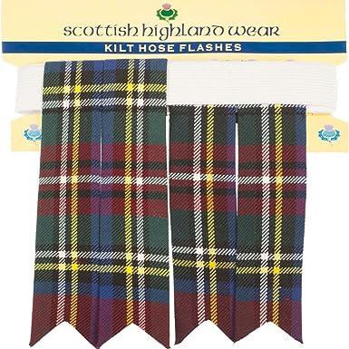 Amazon.com: Pura lana tartán escocés Highland flashes, talla ...