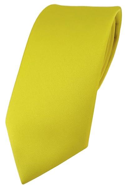 TigerTie - Corbata - Liso - para hombre amarillo Talla única ...