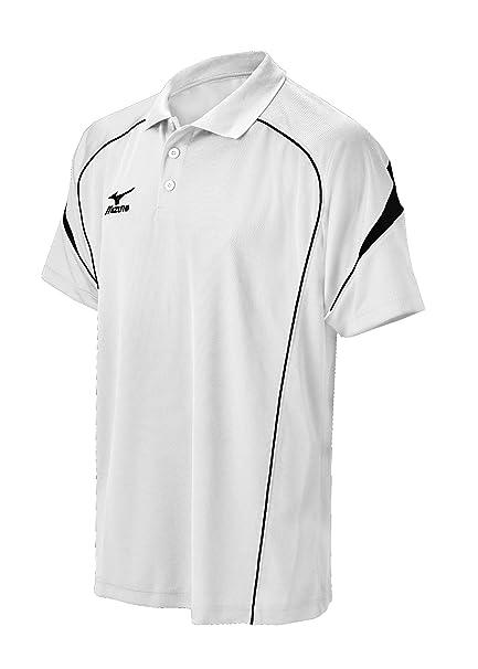 2015 Mizuno Chest Stripe Classic Drylite Mens Golf Polo Shirt Black Small wRxaO8