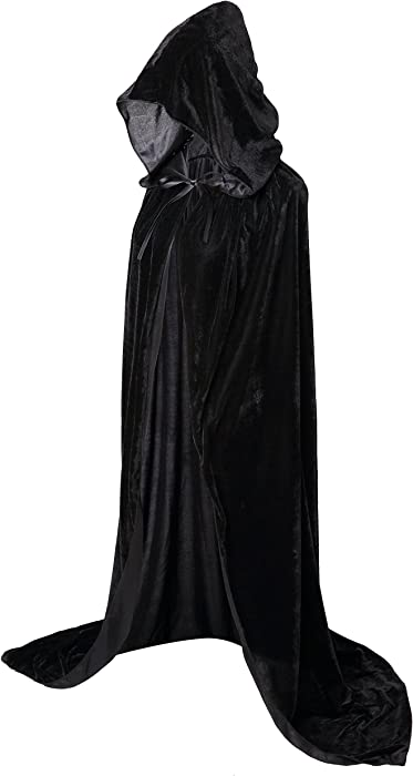 Hooded Cloak Long Velvet Cape for Christmas Halloween Cosplay Costumes 59