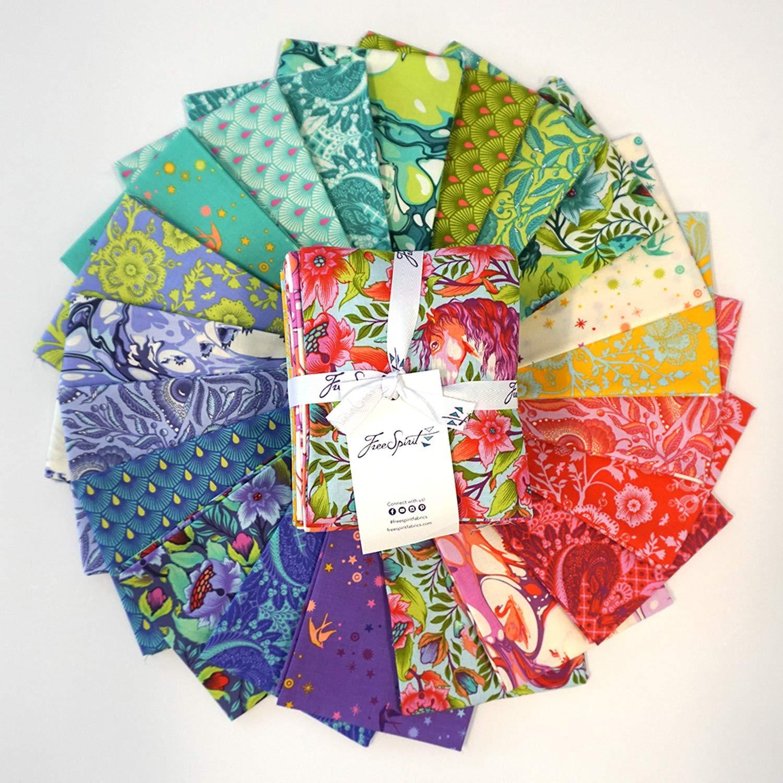 FreeSpirit Fabrics Tula Pink Pinkerville Fat Quarter 21 Pcs by Free Spirit Fabrics (Image #1)