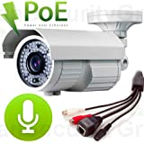 USG 5MP IP Bullet Security Camera: PoE + 2.8-12mm Varifocal Lens + 72x IR LEDs For 230 Feet Night Vision + RCA Audio-In+Out + IR-Cut + IP66 NEMA 4x Outdoor Rated + ONVIF