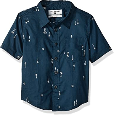 Billabong Niños K508PBSM Manga corta Camisa de botones ...