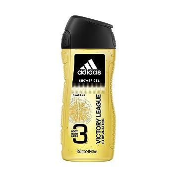 adidas Victory League Duschgel 3 in 1, Würzig frischer Duft mit Bergamotte & Lavendel für Körper, Haare & Gesicht, pH hautfreundlich, 1er Pack (1 x