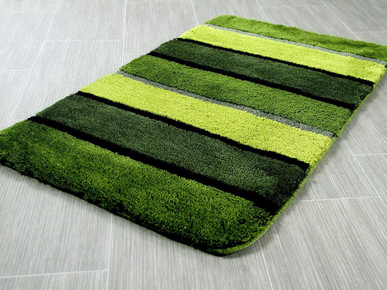 Pacific Badteppich Bali Grün Streifen in 5 Größen