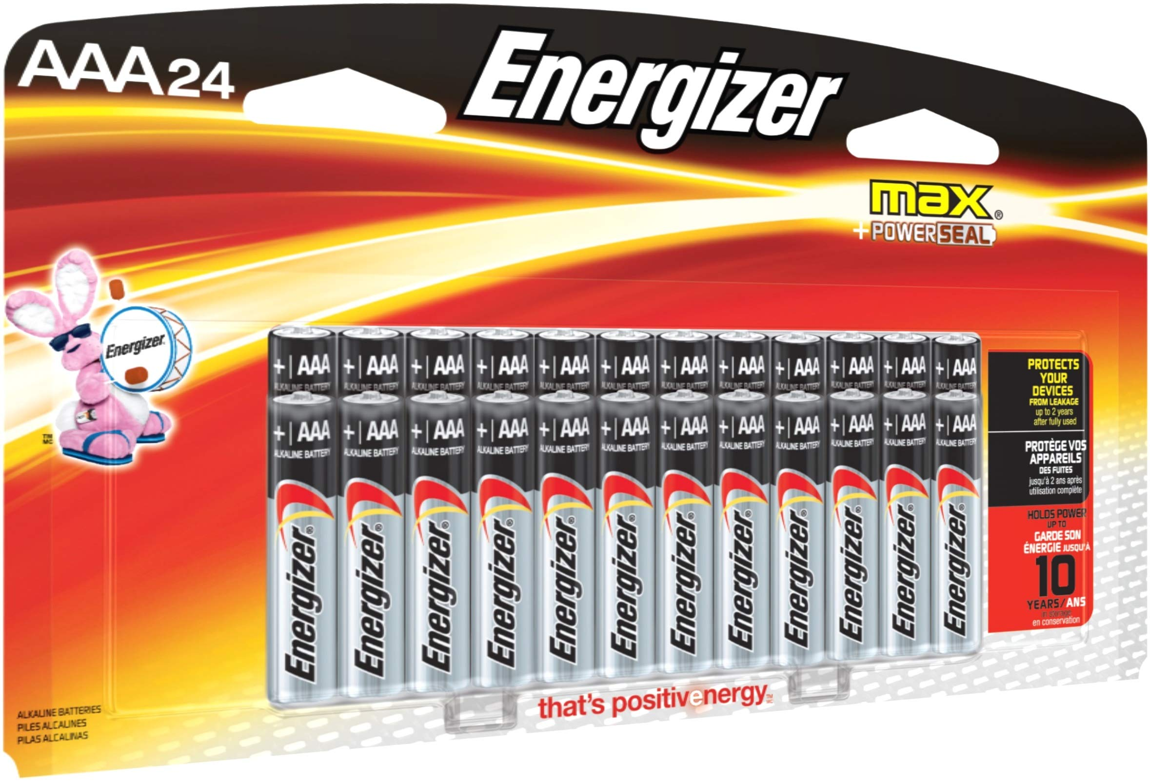 Energizer AAA Batteries (24 Count), Triple A Max Alkaline Battery – Packaging May
