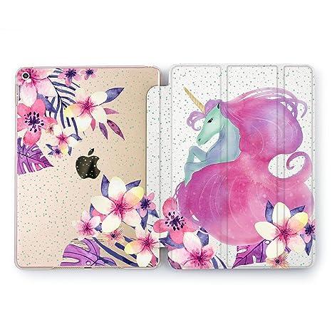 0900719057 Wonder Wild Floral iPad Cover 9.7 Pro inch Mini 1 2 3 4 Air 2 10.5 12.9  Tablet 2018 2017 Case Tropical Flowers Unicorn Girls Violet Nature Cute  Print Design ...