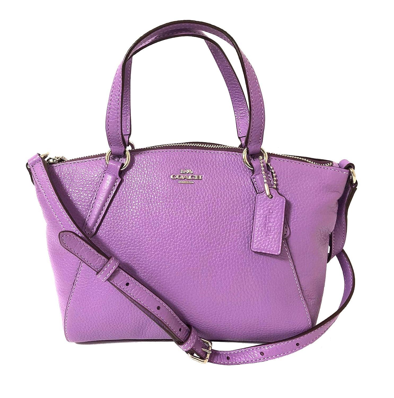Amazon.com  Coach Pebble Leather Mini Kelsey Satchel Crossbody Handbag  (SV Iris)  Shoes 03e145235c