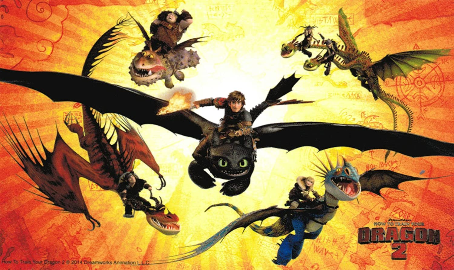 Amazon.com: How To Train Your Dragon 2 Hiccup and Toothless Fly ...