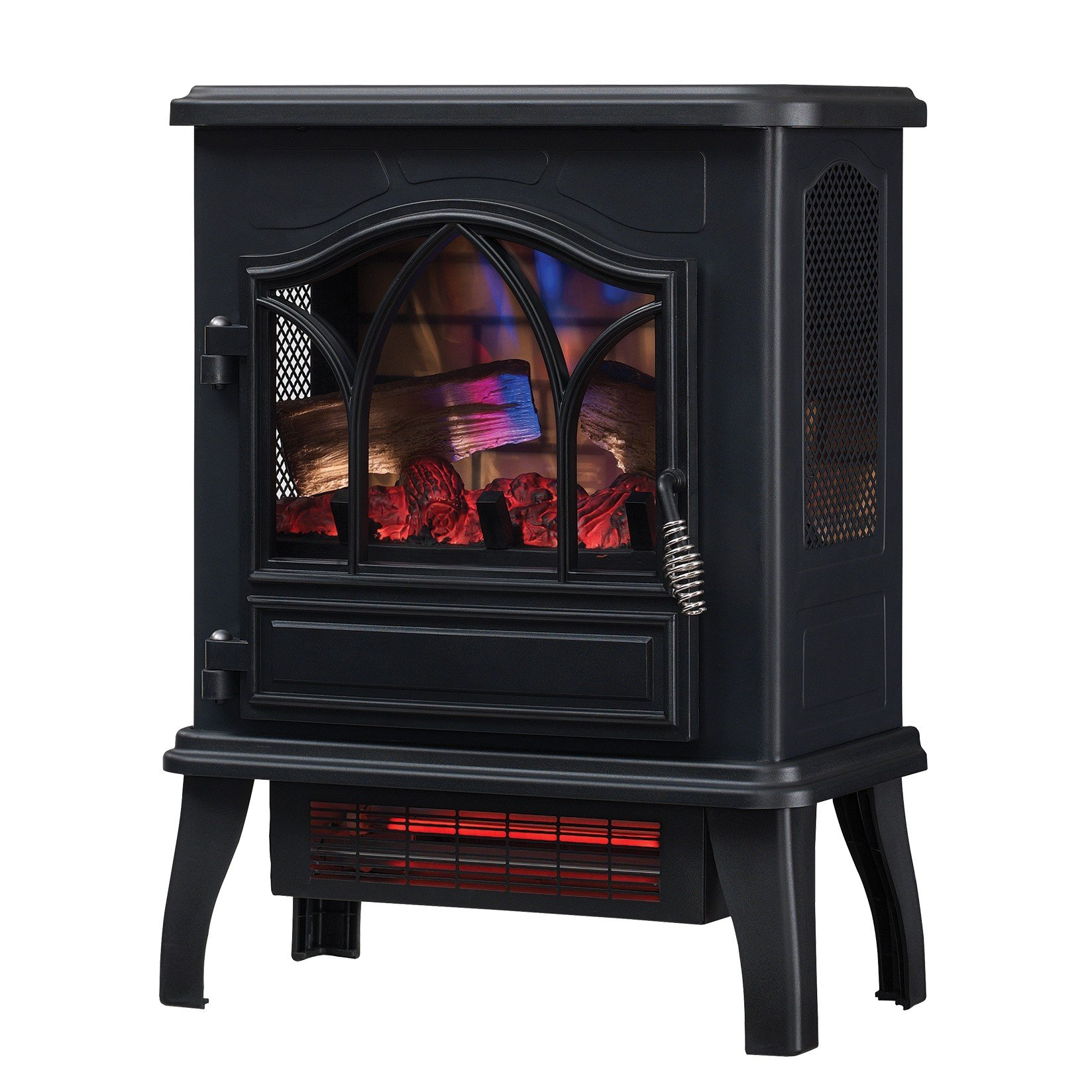 Duraflame DFI-470-04 Infrared Quartz Fireplace Stove, Black by Duraflame Electric