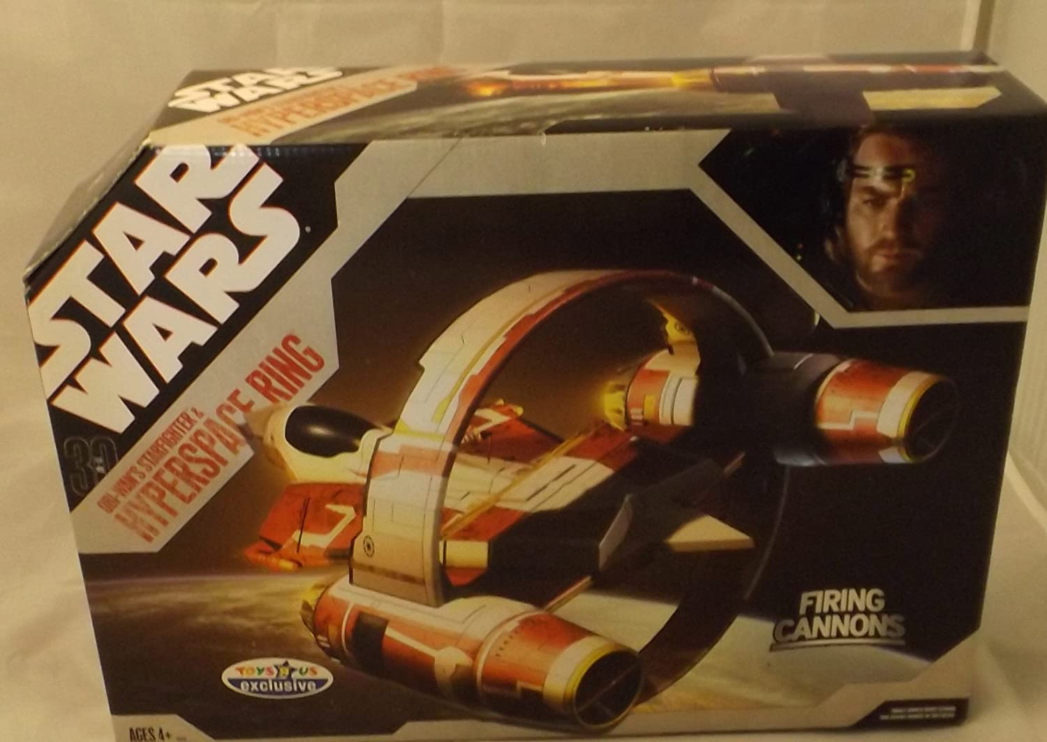 Star Wars 30th Anniversary Saga 2007 Exclusive Obi-Wan's Starfighter & Hyperspace Ring