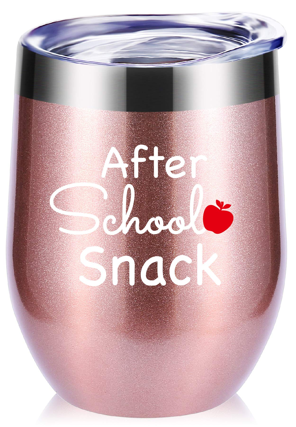 Teacher Gifts.After School Snack Wine Glasses Tumbler With Funny Sayings.Perfect Year End Graduation Gifts,Thank You Gifts for Teachers,Teacher Appreciation Gifts Mug by momocici (Image #1)