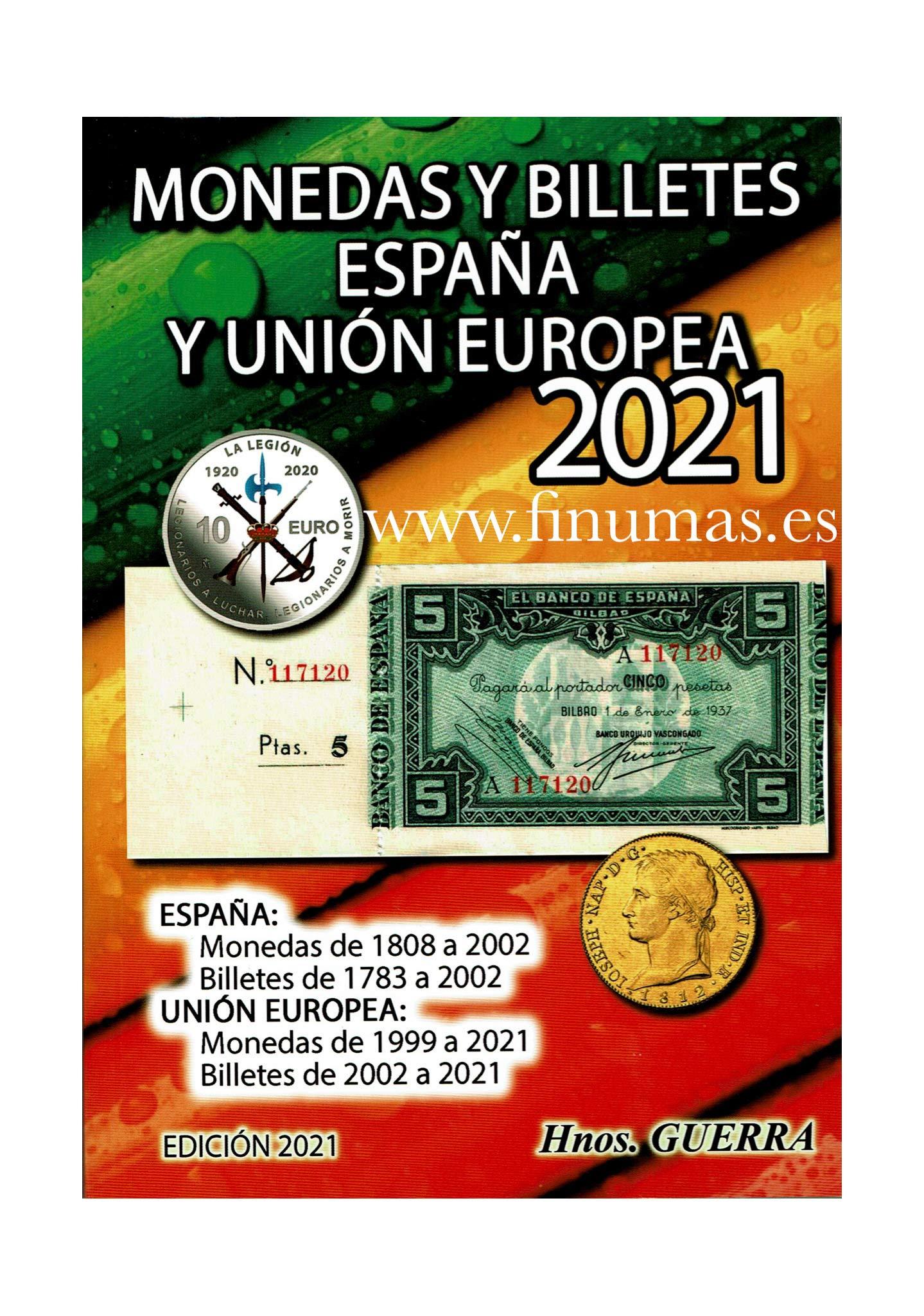 Catalogo Monedas y Billetes España. Edición 2021: Amazon.es: Hnos. Guerra: Libros