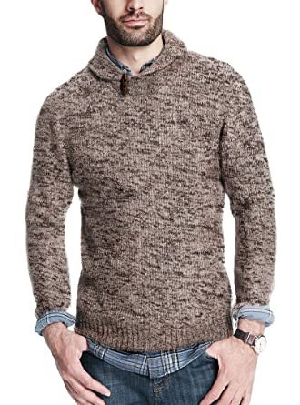 2bcd876279f860 Weatherproof Vintage Men's Shawl Collar MARL Pullover Sweater at Amazon Men's  Clothing store: