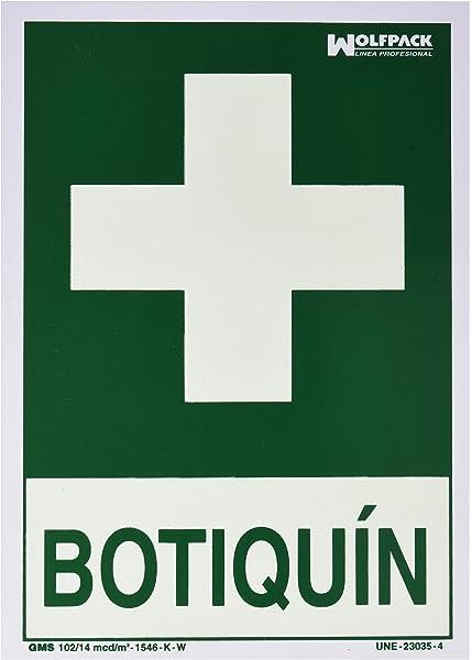Normaluz RD14108 - Señal Luminiscente Botiquin Clase B PVC ...