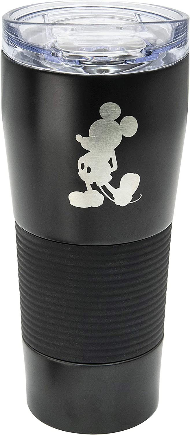 Zak Designs Disney 28 ounce Vacuum Insulated Stainless Steel Tumbler, Mickey Mouse