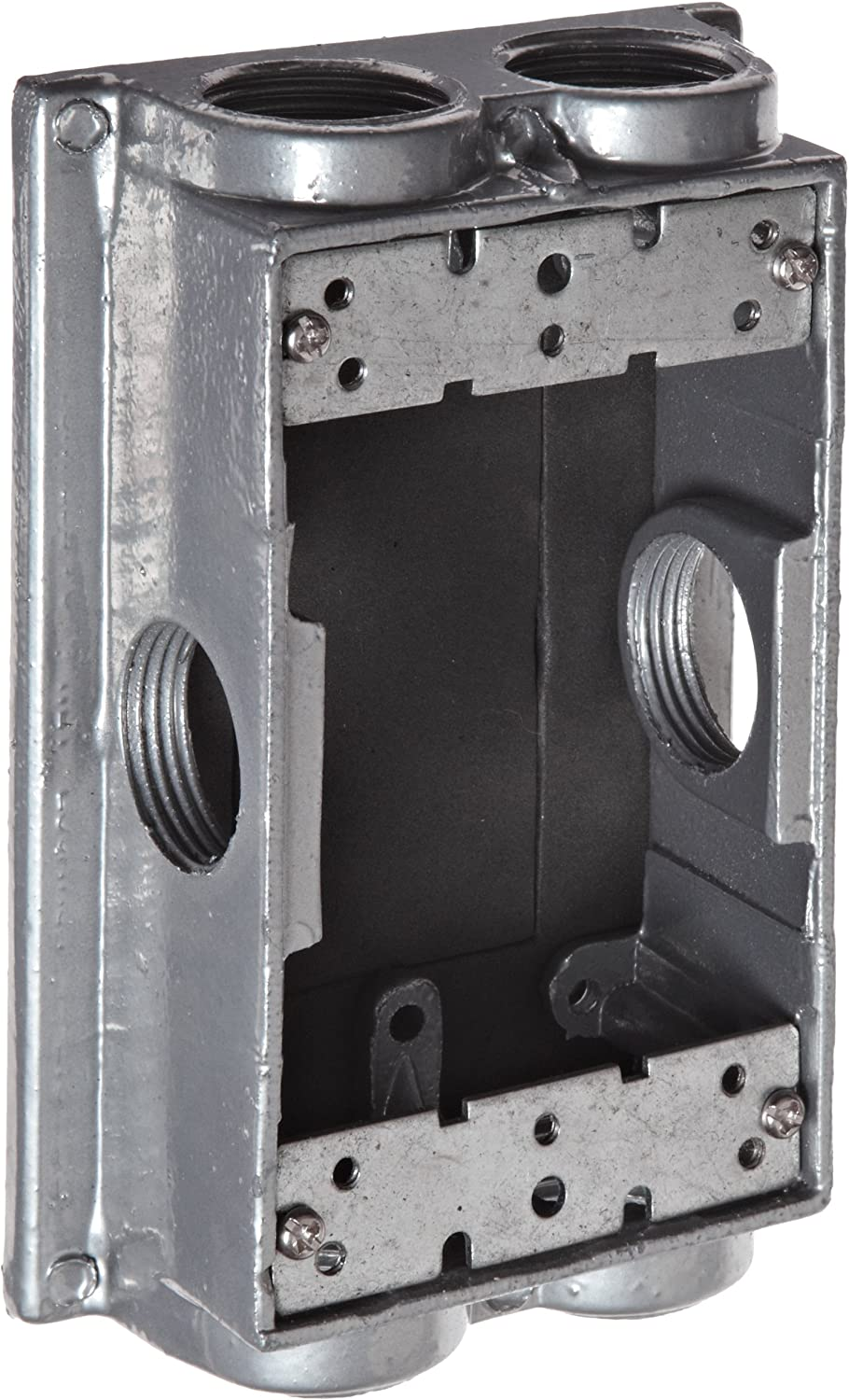 Morris Products 36550 Weatherproof One Gang Flanged Box Extension Adapter 3//4 Outlet Hole Diameter 5-1//4 Length 3-1//2 Width 6 Outlet Holes 1-1//2 Depth Gray 2 Closure Plugs 5-1//4 Length 3-1//2 Width 1-1//2 Depth 3//4 Outlet Hole Diameter