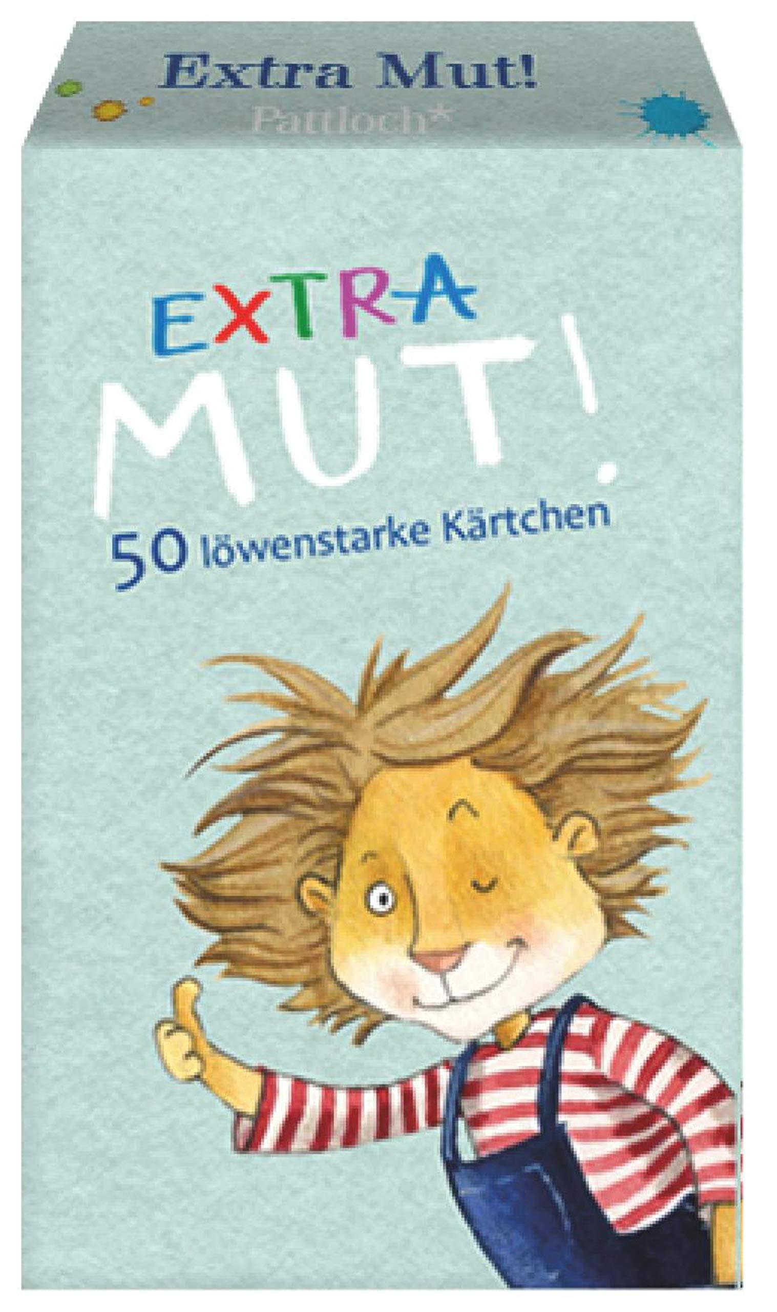 Extra-Mut: 50 löwenstarke Kärtchen (Allemand) Broché – 2 mai 2017 Katja Jäger Pattloch Geschenkbuch B01N64AMEW Abzählreim