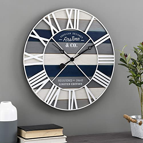 FirsTime Co. Maritime Planks Wall Clock