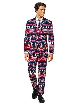 OppoSuits Hombre Rudolph Navidad Trajes Nordic Noel 48 ...