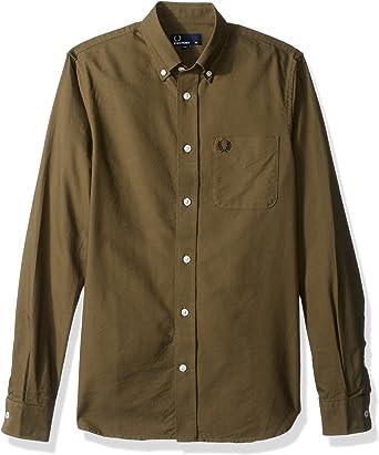 Fred Perry Hombres Camisa Oxford Classic XXL Ortiga: Amazon ...