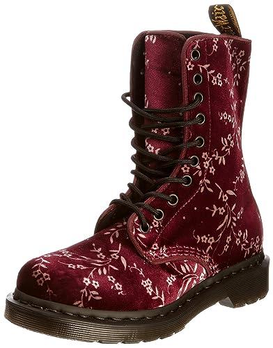 b144c00b22fc Dr. Martens Avery Chaussures Basses à Lacets Femme - Rouge - Rouge (Cerise)