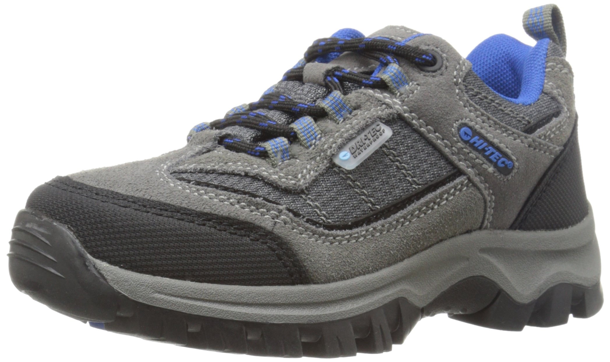 Hi-Tec Hillside Low WP Jr-K, Charcoal/Blue/Black, 2 M US Little Kid