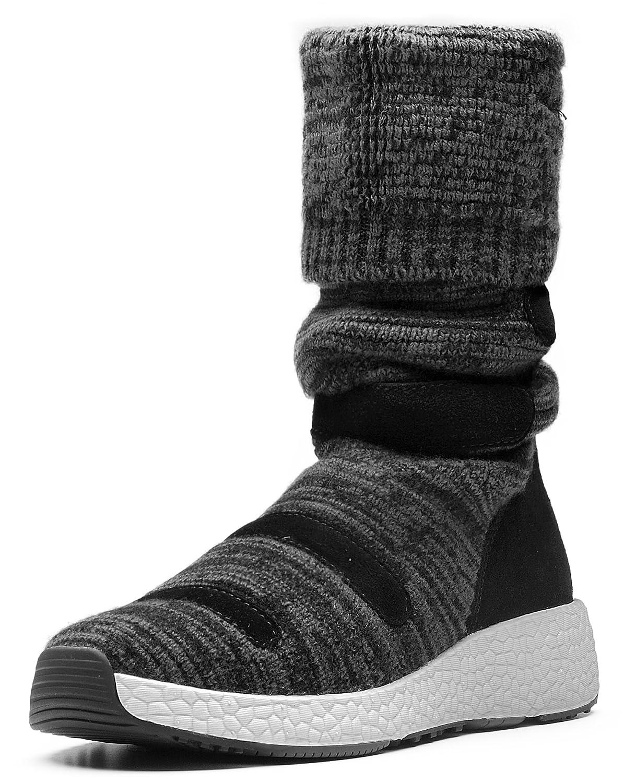 AUMU Women Textile Suede Winter Boots