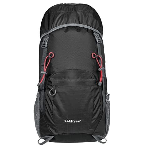 46fa19492019 G4Free 40L Ultra Lightweight Tear   Water Resistant Foldable Travel Hiking  Backpack  Amazon.co.uk  Luggage