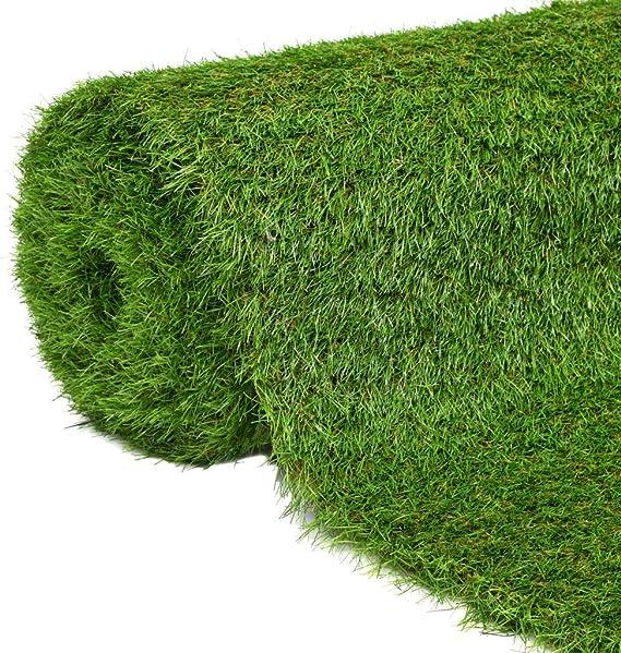 Festnight Kunstrasen Rasenteppich PP-Kunstrasen 1 x 25 m Gr/ün 7-9 mm UV-Best/ändig Erg/änzung zu Terrasse Garten oder Balkon