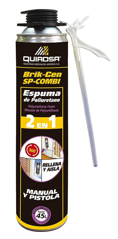 Quiadsa 53300062 Espuma de Poliuretano, 750 ml: Amazon.es: Bricolaje y herramientas