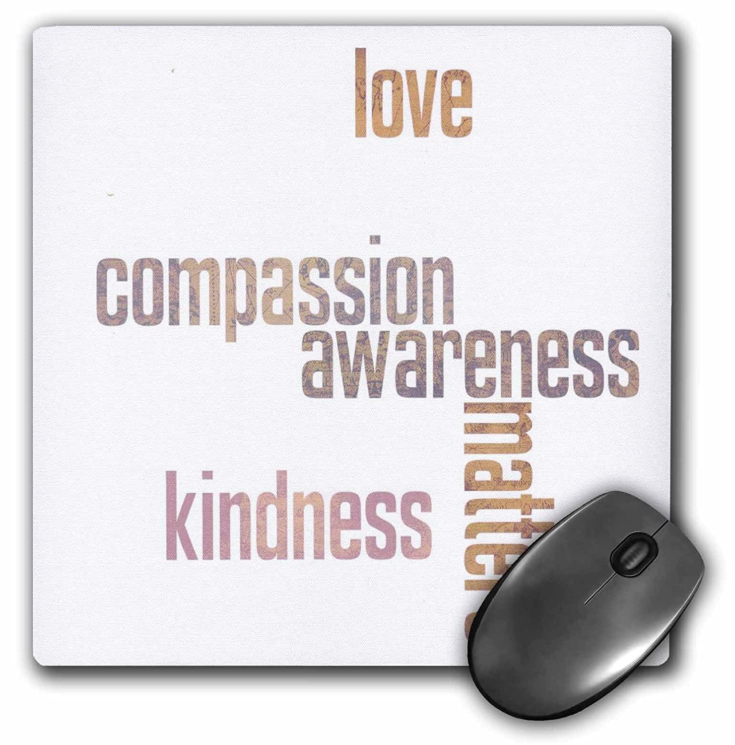 Amazon.com : 3dRose Pastel Map Love and Kindness Matters ...