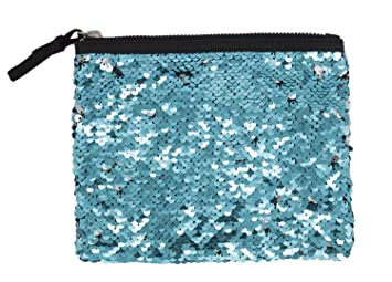 4ab56bf98f Amazon.com : StylesILove Womens Girls Flip Sequin Makeup Bag Reversible  Mermaid Sequin Tow Tone Sequin Cosmetic Case Multi-use Pouch (Blue+Silver)  : Beauty