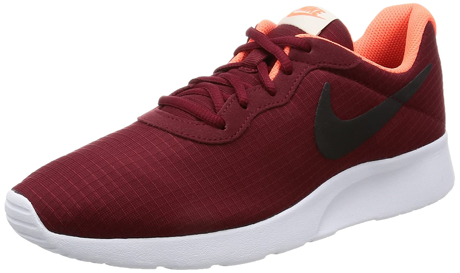 NIKE Men's Tanjun Sneakers, Breathable Textile Uppers and Comfortable Lightweight Cushioning B01EXVVR5I 9.5 D(M) US Red Black Bone
