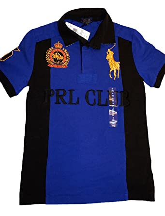 aa40edca Polo Ralph Lauren Children's Tops & T-Shirts Club Horses Embroidery Royal  Blue New With
