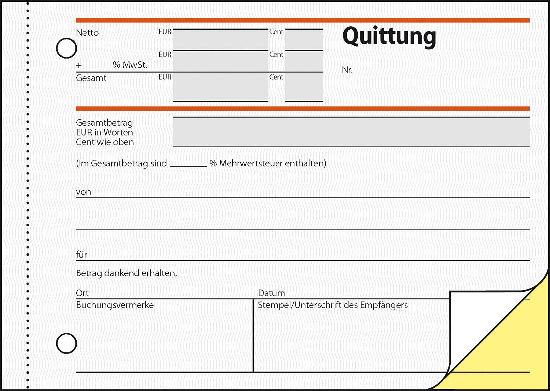 2x50 Blatt selbstdurchschreibend SIGEL T1174 Quittungsblock A6 quer