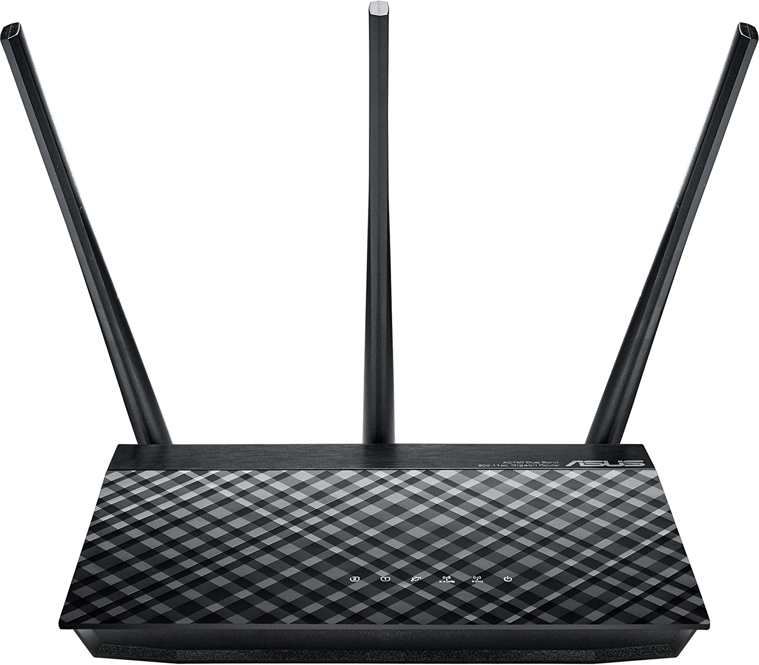 ASUS RT-AC53 - Router inalámbrico AC750 Dual-Band Gigabit (Soporte VPN, 2 x Puertos GB)