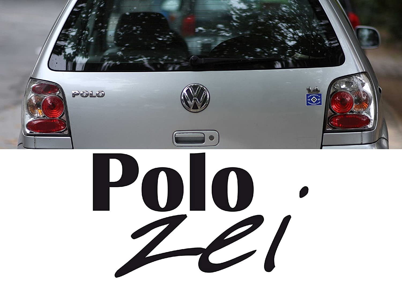 Z408 inches polozei for vw polo car sticker fun bonnet car window film weiß gespiegelt 58x34cm amazon co uk kitchen home