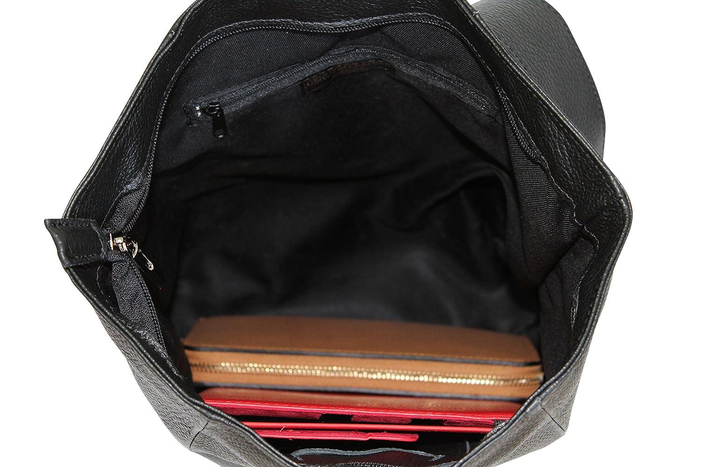 AMBRA Moda äkta läder damryggsäck Cityryggsäck Daypack GL014 Bordeaux