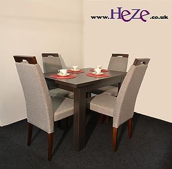Pleasing Heze Ltd Extending Dining Table In Dark Wood Oak Wenge Best Image Libraries Thycampuscom