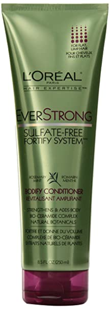 L'OREAL PARIS EverStrong Sulfate-Free BODIFY CONDITIONER for Flat, Limp Hair 250 mL (8.5 fl.oz) Conditioners at amazon